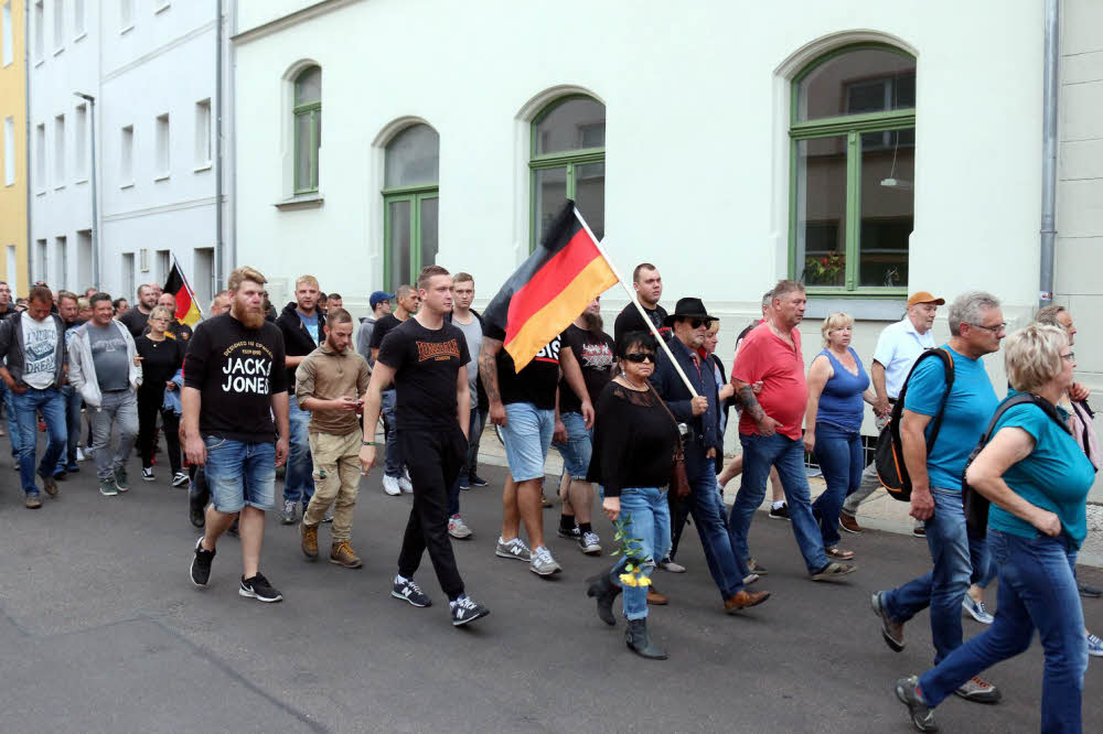 Demonstration nach Todesfall in Köthen (Foto: Ute Nicklisch)